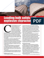 Loading bulk solids with explosive characteristics