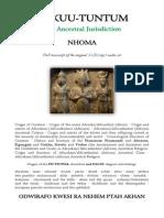 KUKUU-TUNTUM the Ancestral Jurisdiction Nhoma