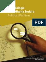 Metodologia AUDITORIA SOCIAL a Politicas Publicas