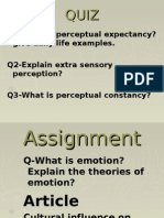 Q1-What is Perceptual Expectancy? Give Daily Life