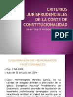 Criterios Jurisprudenciales de La Corte de Constitucionalidad 2011