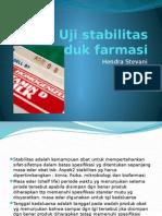 Uji Stabilitas Produk Farmasi