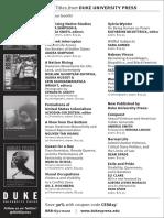 Duke University Press program ad for the Critical Ethnic Studies Association conference 2015
