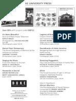 Duke University Press program ad for the EMP Pop conference 2015