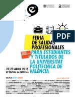 Revista Foro E2 UPV 2015