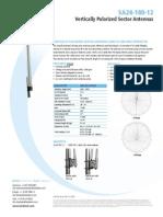Vertically Polarized Sector AntennaS 2400 to 2485 MHz