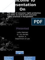 Role of Consumer Protection Act 2009