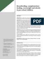 Breastfeeding, Complementary Feeding, Overweight and Obesity in Preschool Children_en_6990