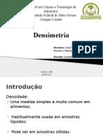 DENSIMETRIA- APRESENTAÇAO