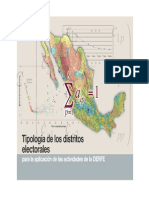 Tipologia Distritos electorales
