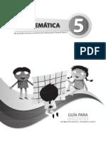 Guia Del Docente Matematicas 5to