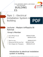 Topic 1 Electrical Installation System in Building