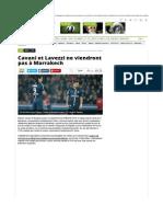 Ligue 1 - PSG - Cavani et Lavezzi ne viendront pas à Marrakech.pdf
