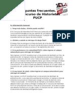 Preguntas Frecuentes XII Concurso de Historietas PUCP 2015