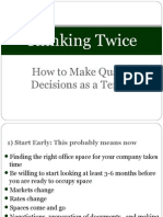 Thinking Twice - Presentation