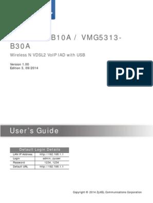 VMG5313-B30A_Version 5 00 | Computer Network | Quality Of