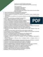 Questionario - Prova 1 - Conjuntivo Adiposo Cartilaginoso e Osseo