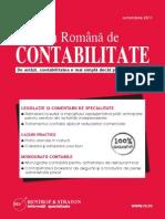 Revista Romana de Contabilitate - Oct. 2011 (Rrc001)
