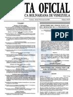 Sumario Gaceta Oficial 39.357