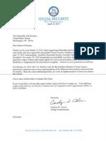 SSA Letter