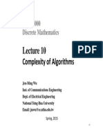 Lecture 10-fffComplexity of Algorithms