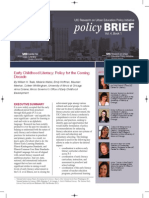 Early Childhood Literacy - Policy for the Coming Decade