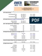 2015 Summer Schedule Paramus