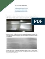 Defeitos Caracteristicos Do Processo de Extrusão