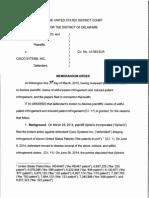 Spherix Inc. v. Cisco Sys., Inc., Civ. No. 14-393-SLR (D. Del. Mar. 30, 2015).