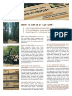 What is a FSC flooring Chain of Custody?