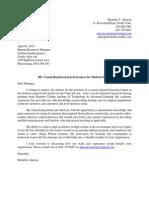 cover letter nursing