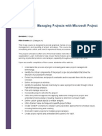 Managing Projects With Microsoft Project Training Class