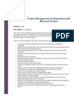Project Management Fundamentals With Microsoft Project