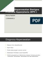 Diagnosa Keperawatan pada klien dengan BPH