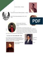 Presidentes de Guatemala de 1821 a 2014