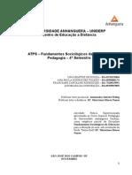 ATPS-Fundamentos Sociologicos Da Educacao