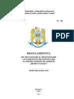 Regulamentul de Organizare Si Desfasurare a Examenului de Licenta