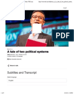 Eric X. Li a Tale of Two Political Systems