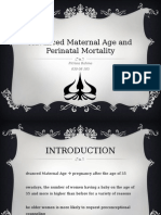 Advanced Maternal Age and Perinatal Mortality