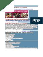 IDRA Bilingual Parent Institute April 23 2015 San Antonio