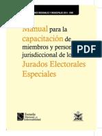 Manual de Capacitación Para Miembros ERM 2014 y Personal Jurisdiccional de Los Jurados Electorales Especiales - ERM 2014