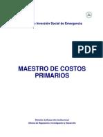 Parte 2- Maestro de Costos Unitarios Primarios