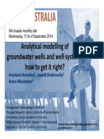 Nalytical Modelling of Groundwater Wells and Well Systems How to Get It Right