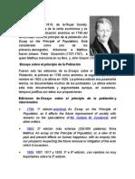 Thomas Malthus y Alexander Von Humboldt