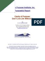 Clarity of Purpose Report