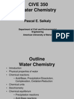 Pascal Saikaly Lecture Water Chemistry 2010