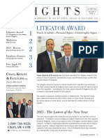 In 2015, Craig, Kelley & Faultless LLC won several awards
