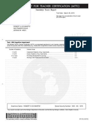 ci test score | Multiple Choice | Test (Assessment)
