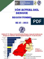 Situación Del Dengue SE27-2013