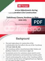 OC Transpo - Transit Service Adjustments during Confederation Line Construction